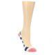 Image of Pink Navy Stripe Women's No-See-Um 2 Pack Socks (side-1-front-03)