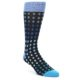 Image of Black Blues Polka Dot Men's Dress Sock (side-1-front-01)