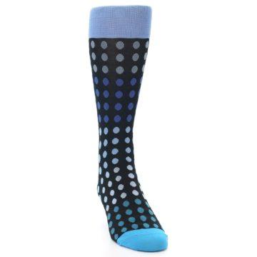 Image of Black Blues Polka Dot Men's Dress Sock (side-1-front-03)