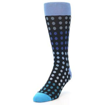 Image of Black Blues Polka Dot Men's Dress Sock (side-2-front-07)