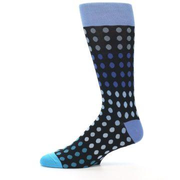 Image of Black Blues Polka Dot Men's Dress Sock (side-2-11)