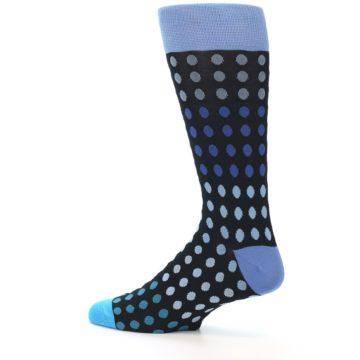 Image of Black Blues Polka Dot Men's Dress Sock (side-2-13)