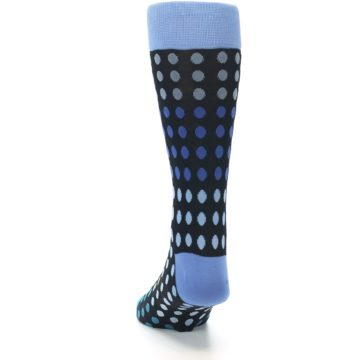 Image of Black Blues Polka Dot Men's Dress Sock (back-17)