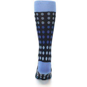 Image of Black Blues Polka Dot Men's Dress Sock (back-18)