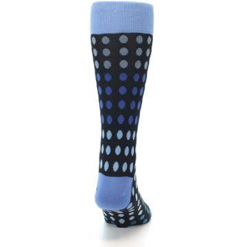 Image of Black Blues Polka Dot Men's Dress Sock (back-19)
