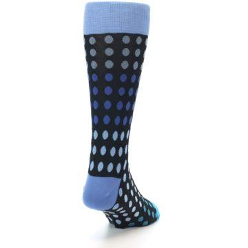 Image of Black Blues Polka Dot Men's Dress Sock (side-1-back-20)