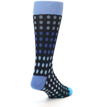 Image of Black Blues Polka Dot Men's Dress Sock (side-1-back-21)