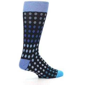 Image of Black Blues Polka Dot Men's Dress Sock (side-1-23)