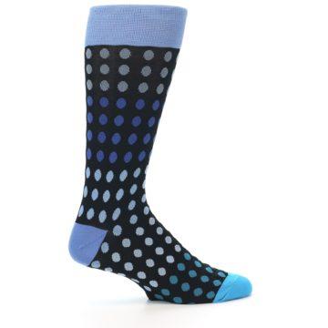 Image of Black Blues Polka Dot Men's Dress Sock (side-1-24)