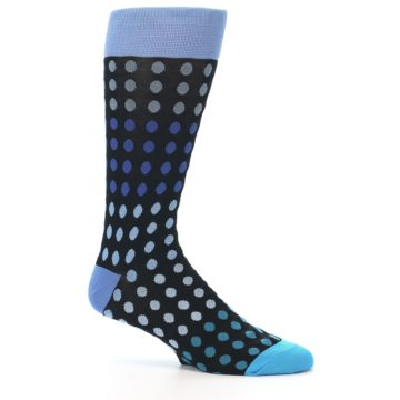 Image of Black Blues Polka Dot Men's Dress Sock (side-1-25)