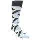 Image of Grey Light Blue Angle Stripes Men's Dress Sock (side-1-front-01)