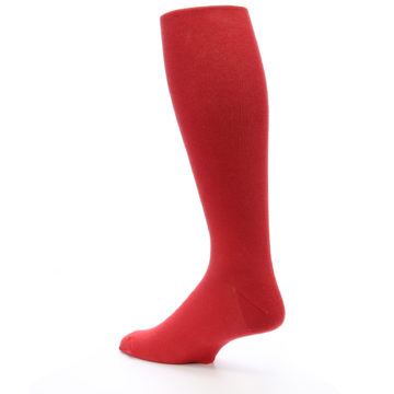 Image of Red Solid Men's Over-the-Calf Dress Socks (side-2-back-14)