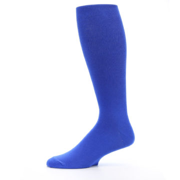 Image of Royal Blue Solid Men's Over-the-Calf Dress Socks (side-2-11)