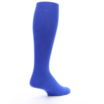 Image of Royal Blue Solid Men's Over-the-Calf Dress Socks (side-1-back-22)