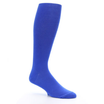 Image of Royal Blue Solid Men's Over-the-Calf Dress Socks -1