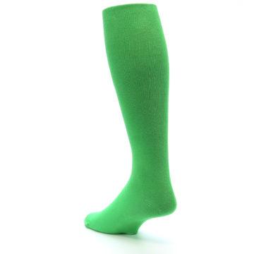 Image of Kelly Green Solid Men's Over-the-Calf Dress Socks (side-2-back-15)