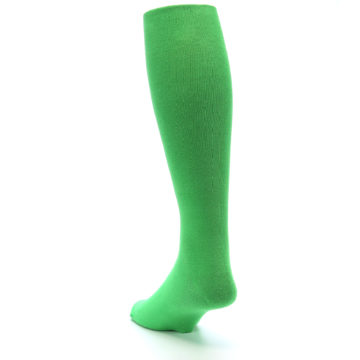 Image of Kelly Green Solid Men's Over-the-Calf Dress Socks (side-2-back-16)