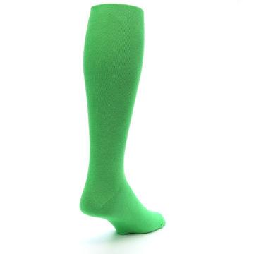 Image of Kelly Green Solid Men's Over-the-Calf Dress Socks (side-1-back-21)