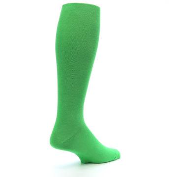 Image of Kelly Green Solid Men's Over-the-Calf Dress Socks (side-1-back-22)