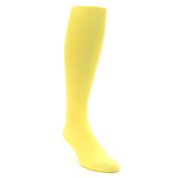 Image of Sunbeam Yellow Solid Men's Over-the-Calf Dress Socks (side-1-front-02)