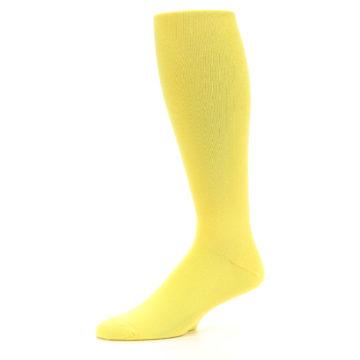 Image of Sunbeam Yellow Solid Men's Over-the-Calf Dress Socks (side-2-10)