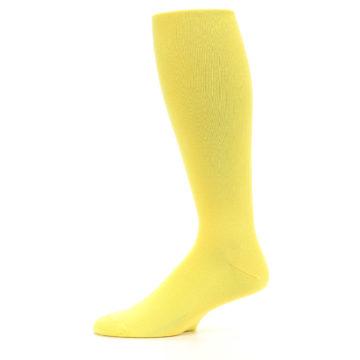 Image of Sunbeam Yellow Solid Men's Over-the-Calf Dress Socks (side-2-11)