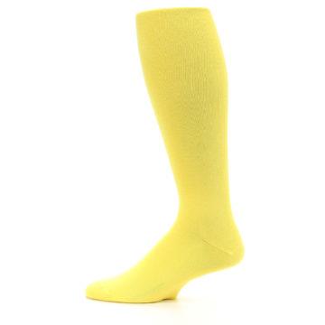 Image of Sunbeam Yellow Solid Men's Over-the-Calf Dress Socks (side-2-12)