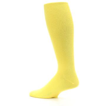 Image of Sunbeam Yellow Solid Men's Over-the-Calf Dress Socks (side-2-13)