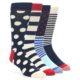 Image of Red Navy White Men's Dress Socks Gift Box 4 Pack (side-1-front-01)