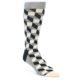 Image of Black Grey White Men's Dress Socks Gift Box 4 Pack (side-1-front-03)