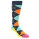 Image of Blue Orange Argyle Men's Dress Socks Gift Box 4 Pack (front-04)