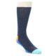 Image of Blue Orange Argyle Men's Dress Socks Gift Box 4 Pack (front-05)