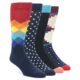 Image of Black Multi Dots Men's Dress Socks Gift Box 4 Pack (side-1-front-01)