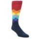 Image of Black Multi Dots Men's Dress Socks Gift Box 4 Pack (side-1-front-02)
