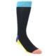 Image of Black Multi Dots Men's Dress Socks Gift Box 4 Pack (front-04)