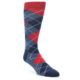 Image of Navy Blue Red Men's Dress Socks Gift Box 4 Pack (side-1-front-02)