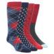 Image of Navy Blue Red Men's Dress Socks Gift Box 4 Pack s1