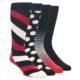 Image of Black Red White Men's Dress Socks Gift Box 4 Pack (side-1-front-01)