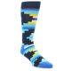 Image of Navy Blues Partial Stripes Men's Dress Socks (side-1-front-01)