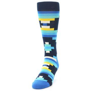 Image of Navy Blues Partial Stripes Men's Dress Socks (side-2-front-06)