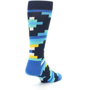 Image of Navy Blues Partial Stripes Men's Dress Socks (side-1-back-21)