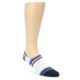 Image of White Black Blue Stripe Men's Liner Socks (side-1-front-01)