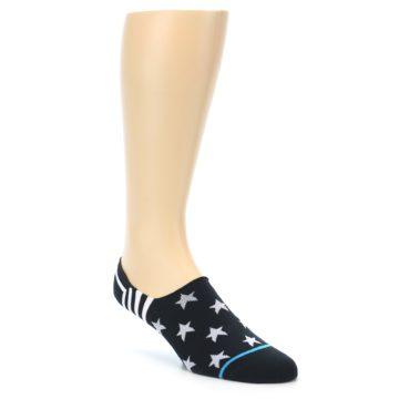 Image of Black White Stars Men's Liner Socks (side-1-front-01)