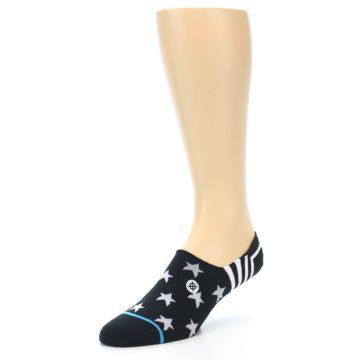 Image of Black White Stars Men's Liner Socks (side-2-front-08)