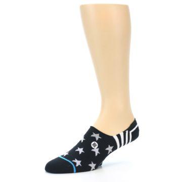Image of Black White Stars Men's Liner Socks (side-2-09)