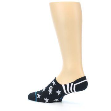 Image of Black White Stars Men's Liner Socks (side-2-13)