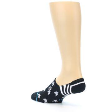 Image of Black White Stars Men's Liner Socks (side-2-back-14)