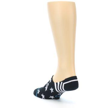 Image of Black White Stars Men's Liner Socks (side-2-back-15)