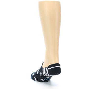 Image of Black White Stars Men's Liner Socks (side-2-back-16)