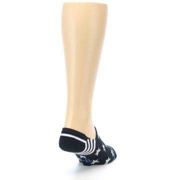 Image of Black White Stars Men's Liner Socks (side-1-back-20)